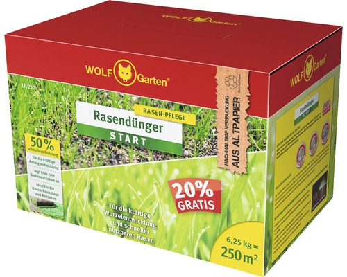 Engrais pour gazon START WOLF-Garten 6,25kg 250 m²