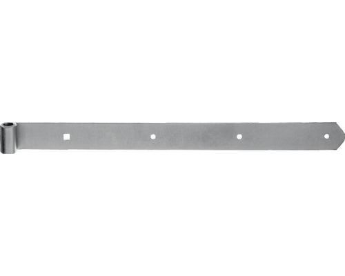 Paumelle de volet Type 6 forme droite, semi-lourde, 700x13x40mm, jaune en acier galvanisé
