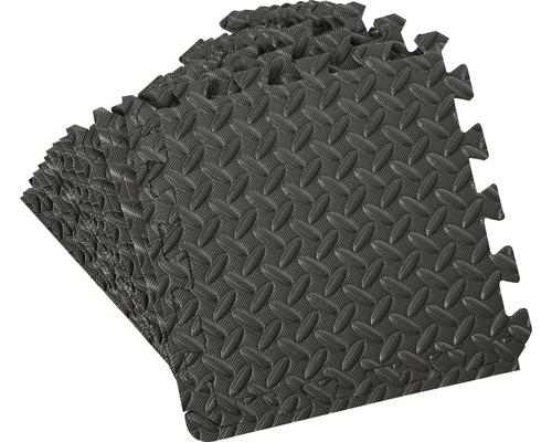 Puzzlematten 12-tlg. 32x32 cm schwarz