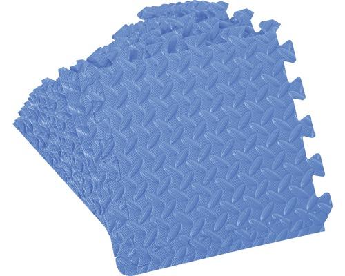 Tapis puzzle 12 pièces 32x32 cm bleu