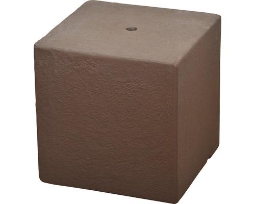 Socle de fontaine de jardin Cube 31 x 31 x 31 cm couleur rouille