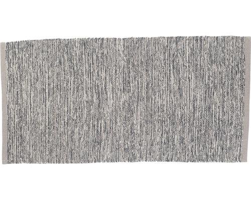 Tapis en chiffon Antalya gris 70x140 cm