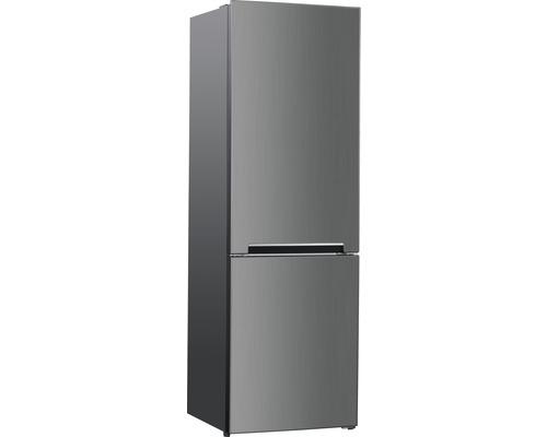 Réfrigérateur-congélateur Wolkenstein WKG312NF IX-M lxhxp 60 x 185.80 x 60 cm compartiment de réfrigération 210 l compartiment de congélation 83 l
