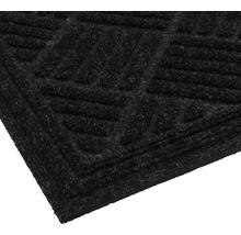 Tapis éco Contures noir 80x120 cm-thumb-1