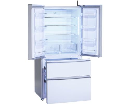 Réfrigérateur multi-portes Wolkenstein WFD540NF SI lxhxp 83 x 182 x 70.60 cm compartiment de réfrigération 345 l compartiment de congélation 186 l
