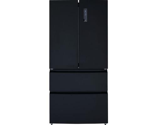 Réfrigérateur multi-portes Wolkenstein WFD540NF B lxhxp 83 x 182 x 70.60 cm compartiment de réfrigération 345 l compartiment de congélation 186 l