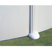 Aufstellpool Stahlwandpool-Set oval 744x575x132 cm inkl. Sandfilteranlage, Skimmer, Leiter, Filtersand & Bodenschutzvlies weiß-thumb-3