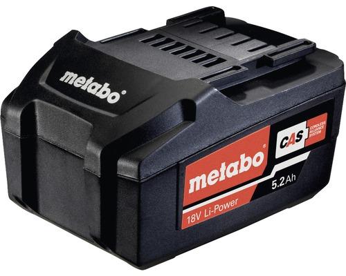 Batterie de rechange Metabo 18V Li-Power (5,2 Ah)