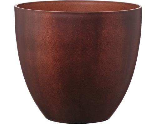 Pot de fleurs Lafiora Balas plastique Ø 45cm rouille