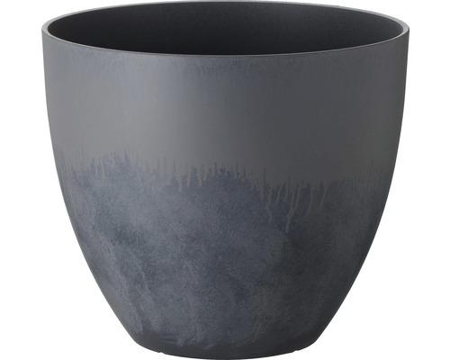 Pot de fleurs Lafiora Balas plastique Ø 45cm béton clair