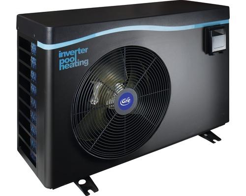 Chauffage de piscine Inverter pompe à chaleur Gre 16kW jusqu''à 85 m³ gris
