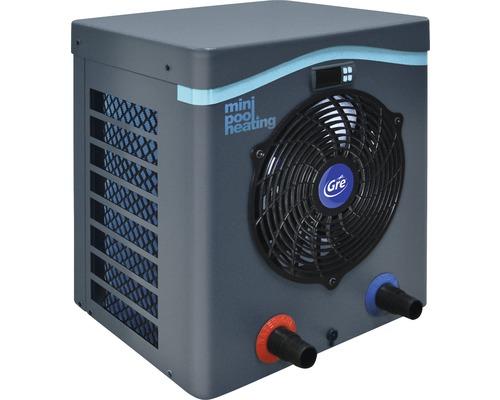 Chauffage de piscine mini pompe à chaleur Gre 5,5kW puissance de chauffage jusqu''à 40m³ gris