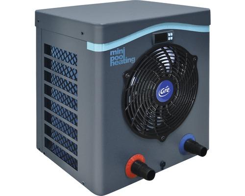 Chauffage de piscine mini pompe à chaleur Gre 4,2kW puissance de chauffage jusqu''à 30m³ gris