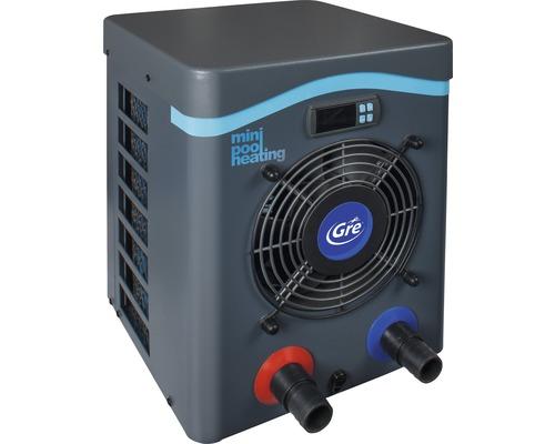 Chauffage de piscine mini pompe à chaleur Gre 2,5kW puissance de chauffage jusqu''à 20m³ gris