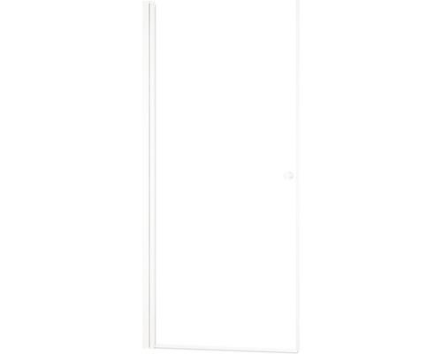 Porte pivotante basano Modena 88,8 cm en verre véritable clair blanc mat
