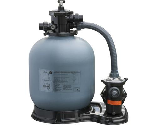 Groupe de filtration à sable pour piscine 10 m³/h gris foncé