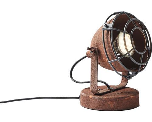 Lampadaire métal à 1 ampoule H 170 mm Carmen couleur rouille hxØ avec interrupteur intermédiaire à cordon