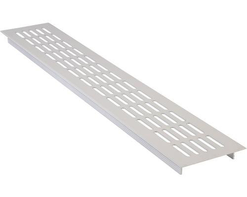 Grille d''aération Rotheigner en aluminium blanche 480 x 80 mm