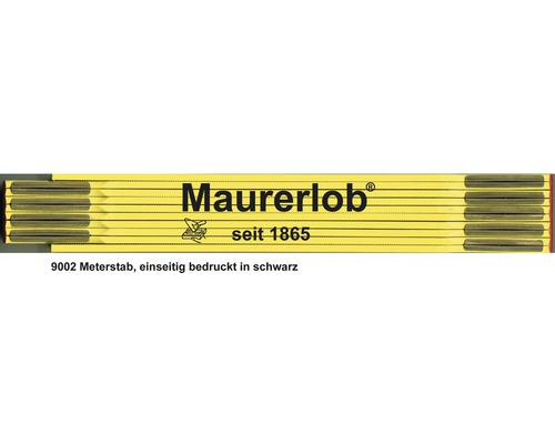 Holzgliedermaßstab 2 m Maurerlob gelb