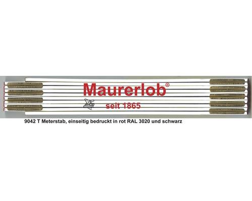 Holzgliedermaßstab 2 m Maurerlob weiß
