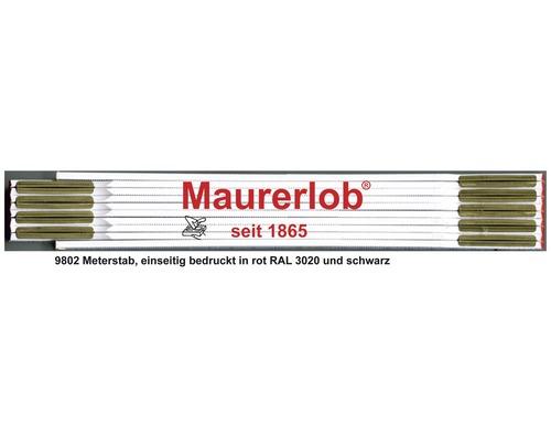 Holzgliedermaßstab 2 m Maurerlob weiß-gelb