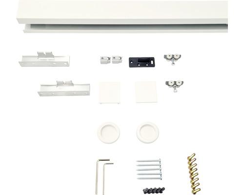 Schiebetürbeschlag-Set Pertura Selir Aluminium weiß für Holzschiebetüren