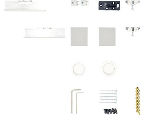 Schiebetürbeschlag-Set Pertura Selir Aluminium für Holzschiebetürblatt
