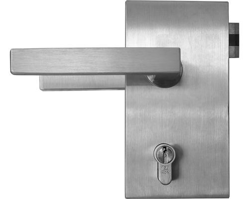 Kit de ferrures Pertura Junior Office tirant gauche acier inoxydable pour cylindre profilé