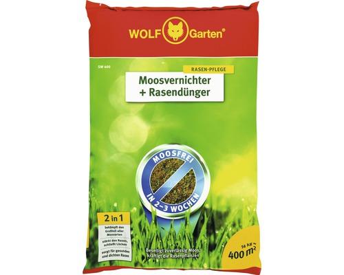 Agent anti-mousse et engrais pour gazon WOLF-Garten 14 kg 400 m²