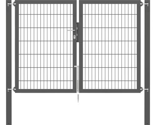 Portillon grillagé double Flexo 8/6/8 2000x1400, poteaux 80x80, anthracite