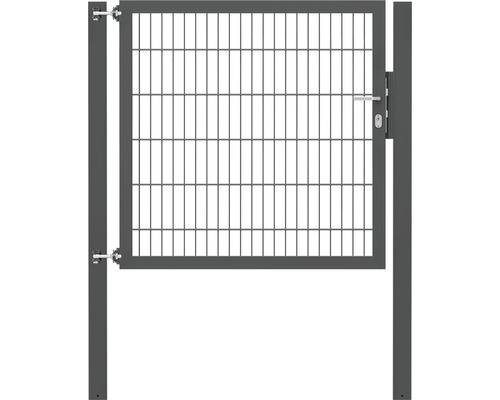 Portillon grillagé simple Flexo 8/6/8 1250x1200, poteaux 80x80, anthracite