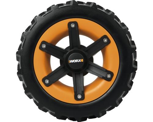 Roues motrices WORX Landroid S & M profil de pneu en V pour une capacité de passer les pentes améliorée jusqu''à 44,5 %