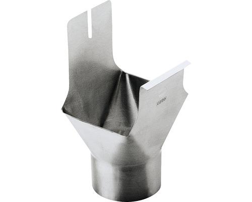 Raccord d''écoulement en zinc pour chéneau rectangulaire DN 70 écoulement 60mm