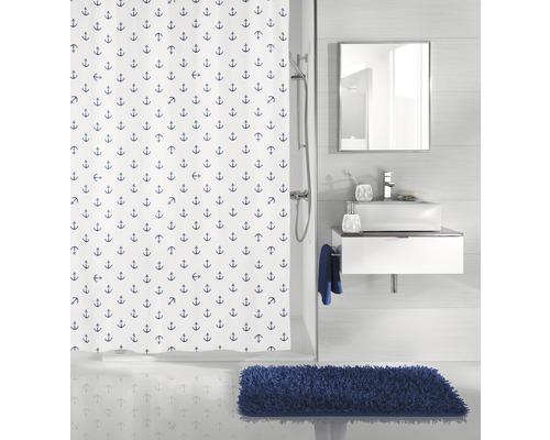 Rideau de douche Kleine Wolke Anchor bleu foncé 120 x 200 cm