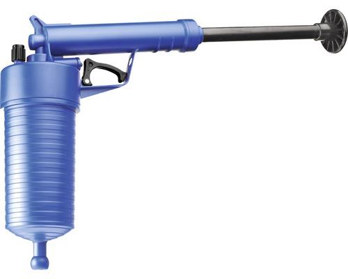 Pistolet déboucheur à air comprimé, 3 embouts pour écoulement et 1 embout pour WC