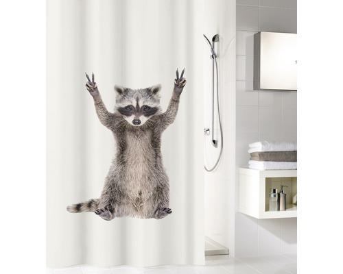 Rideau de douche Kleine Wolke George taupe 180 x 200 cm