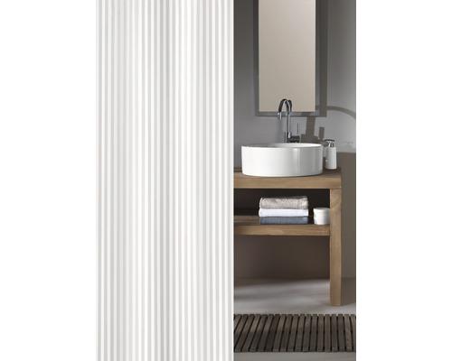 Rideau de douche Kleine Wolke Sanna blanc textile 240 x 180 cm