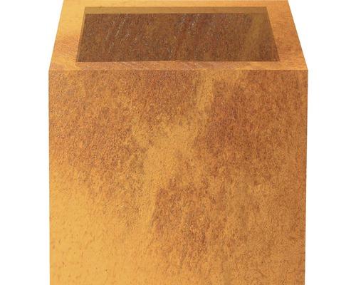 Bac à plantes Nora 40 x 40 acier corten marron