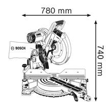 Kapp- und Gehrungssäge Bosch Professional GCM 12 GDL inkl. Spannzange und 1 x Kreissägeblatt-thumb-4