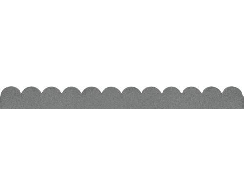 Bordure pour plates-bandes, bordure de pelouse avec pointes pour fixation 120 x 11 cm gris