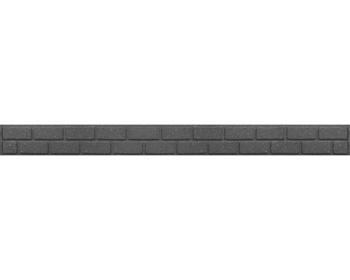 Bordure de jardin, bordure de carré potager avec pointes pour fixation 120 x 9 cm gris