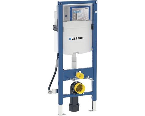 Bâti-support Geberit Duofix 112 cm avec réservoir de chasse d'eau montage encastré Sigma 12 cm pour WC pour personnes à mobilié réduite 111.350.00.5
