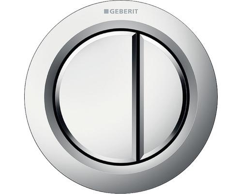 Déclenchement à distance GEBERIT type 01 pneumatique double chasse bouton poussoir pour meuble chrome mat 116.050.46.1
