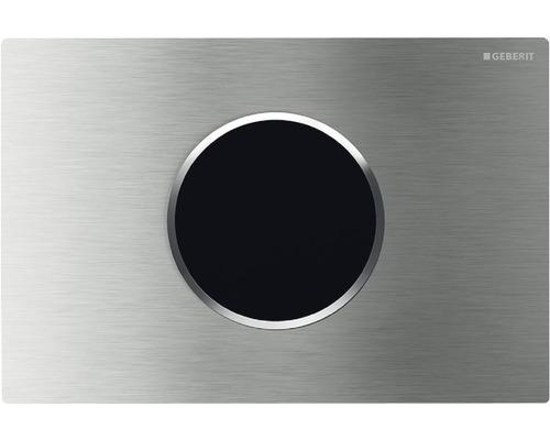 Plaque de commande GEBERIT Sigma 10 HyTronic commande de WC infrarouge sans contact fonctionnement sur secteur acier inoxydable brossé 115.907.SN.1