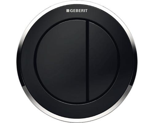 Déclenchement à distance GEBERIT type 10 pneumatique double chasse bouton poussoir pour meuble noir/chrome 116.057.KM.1