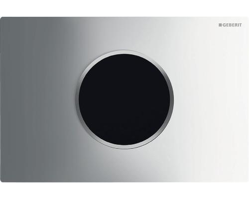 Plaque de commande GEBERIT Sigma 10 HyTronic commande de WC infrarouge sans contact fonctionnement sur secteur chrome/brillant satiné/chrome 115.907.KH.1