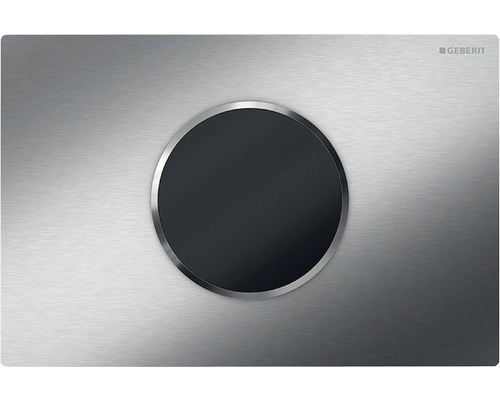 Plaque de commande GEBERIT Sigma 10 HyTronic commande de WC sans contact fonctionnement sur pile acier inoxydable brossé 115.908.SN.1