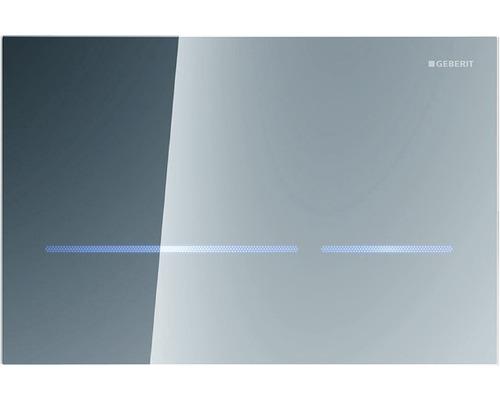 Plaque de commande GEBERIT Sigma 80 commande de WC sans contact avec actionnement électronique de la chasse d''eau effet miroir 116.090.SM.1