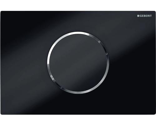 Plaque de commande GEBERIT Sigma 10 HyTronic commande de WC sans contact fonctionnement sur pile noir/chrome/noir 115.908.KM.1