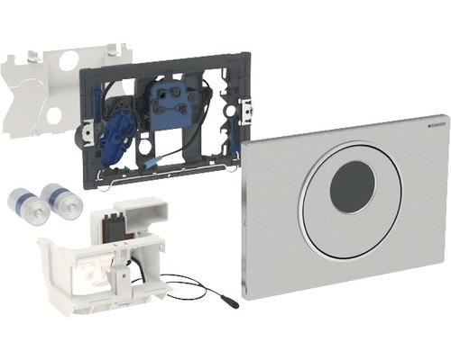 Plaque de commande GEBERIT Sigma10 commande de WC électronique fonctionnement sur pile double chasse automatique/sans contact/manuelle acier inoxydable 115.891.SN.5